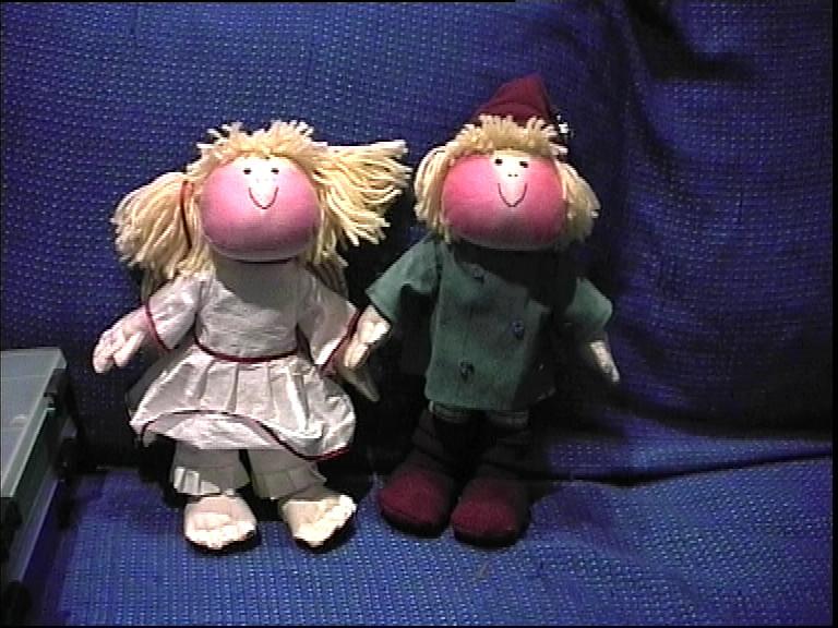 2 fabric dolls